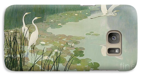 Herons In Summer Galaxy Case by Newell Convers Wyeth