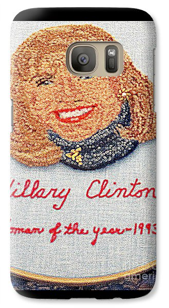 Hillary Clinton Woman Of The Year Galaxy Case by Randall Weidner