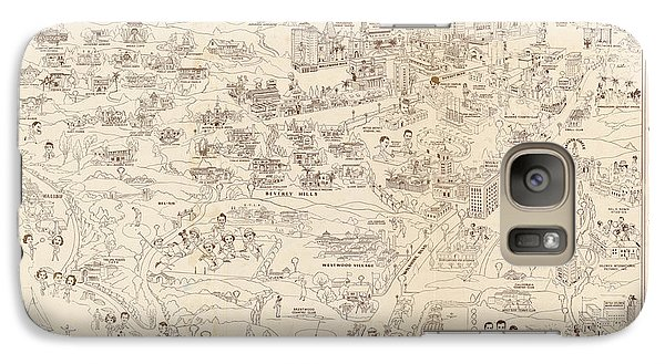 Hollywood Map To The Stars 1937 Galaxy S7 Case by Don Boggs
