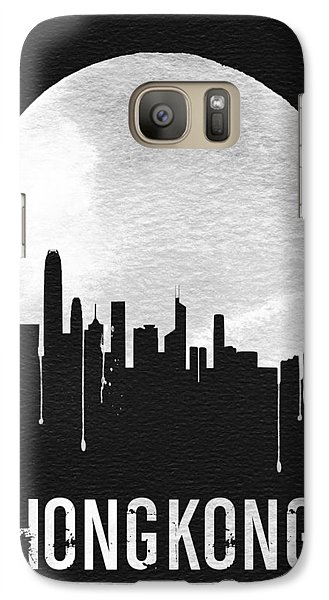 Hong Kong Skyline Black Galaxy Case by Naxart Studio