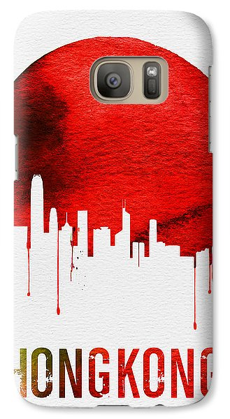 Hong Kong Skyline Red Galaxy Case by Naxart Studio