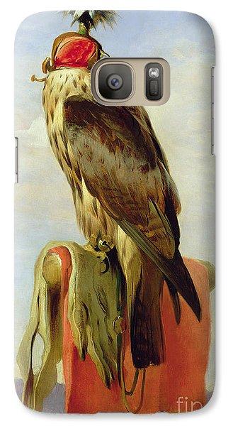 Hooded Falcon Galaxy Case by Sir Edwin Landseer