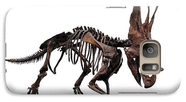 Horned Dinosaur Skeleton Galaxy Case by Oleksiy Maksymenko