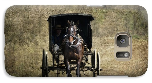 Horse And Buggy Galaxy Case by Tom Mc Nemar