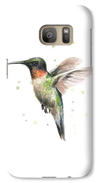 Hummingbird Galaxy S7 Case by Olga Shvartsur