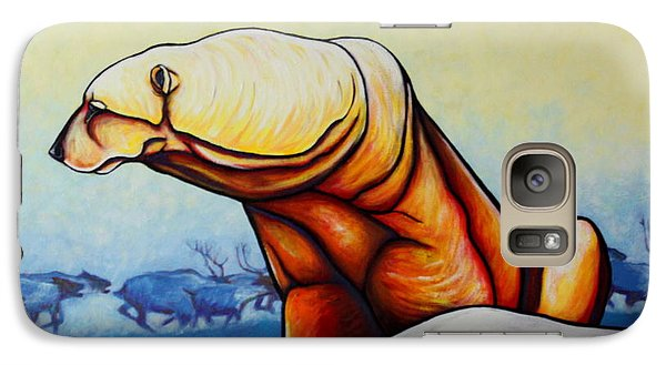 Hunger Burns - Polar Bear And Caribou Galaxy Case by Joe  Triano