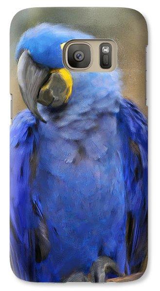 Hyacinth Macaw  Galaxy Case by Jai Johnson