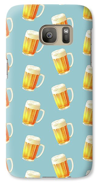 Ice Cold Beer Pattern Galaxy S7 Case by Little Bunny Sunshine