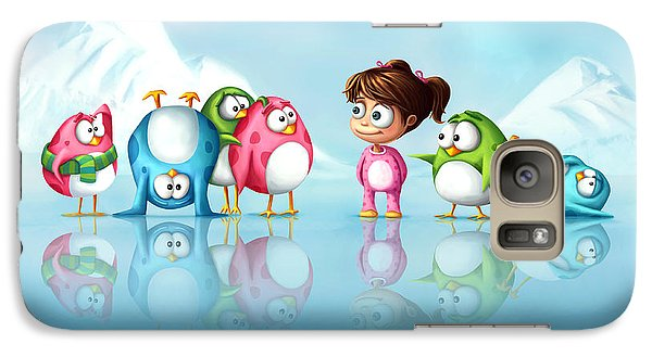 Im A Penguin Too Galaxy Case by Tooshtoosh