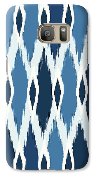 Indigo Ikat Galaxy S7 Case by Arte Flora Design Studio