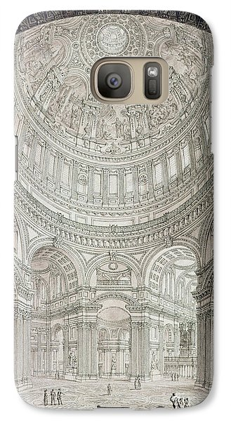 Interior Of Saint Pauls Cathedral Galaxy S7 Case by John Coney