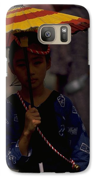 Galaxy Case featuring the photograph Japanese Girl by Travel Pics