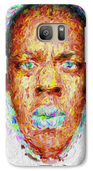 Jay Z Painted Digitally 2 Galaxy S7 Case by David Haskett