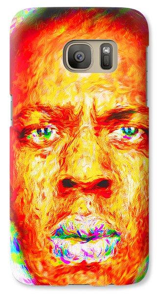 Jay-z Shawn Carter Digitally Painted Galaxy S7 Case by David Haskett