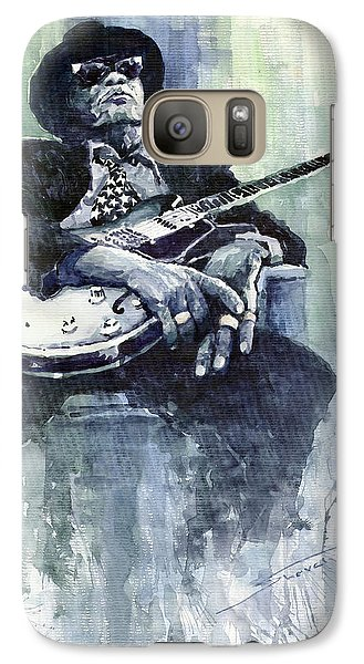 Jazz Bluesman John Lee Hooker 04 Galaxy S7 Case by Yuriy  Shevchuk