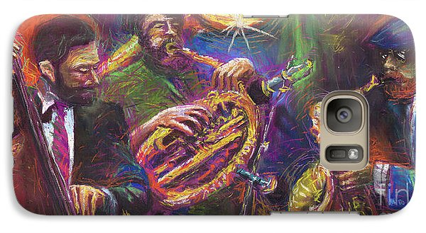 Jazz Jazzband Trio Galaxy S7 Case by Yuriy  Shevchuk