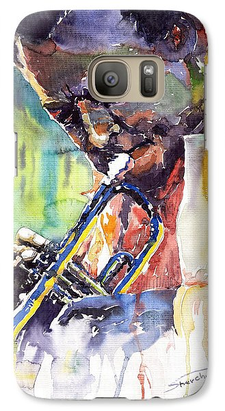 Jazz Miles Davis 9 Blue Galaxy S7 Case by Yuriy  Shevchuk