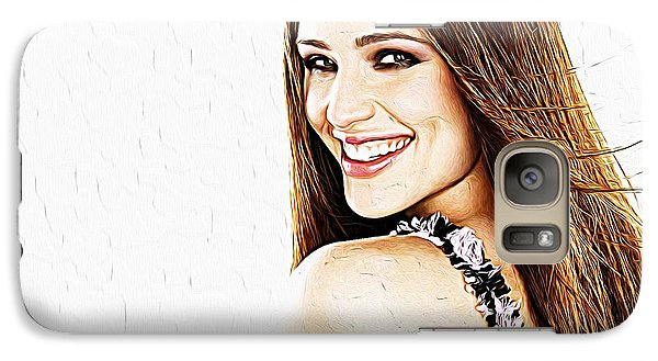 Jennifer Garner Galaxy S7 Case by Iguanna Espinosa