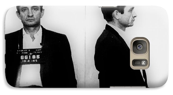 Johnny Cash Mug Shot Horizontal Galaxy Case by Tony Rubino