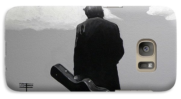 Johnny Cash Galaxy Case by Tom Carlton