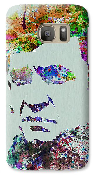 Johnny Cash Watercolor 2 Galaxy Case by Naxart Studio