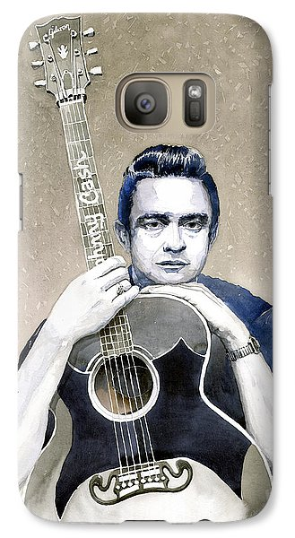Johnny Cash Galaxy S7 Case by Yuriy  Shevchuk