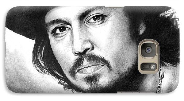 Johnny Depp Galaxy Case by Greg Joens