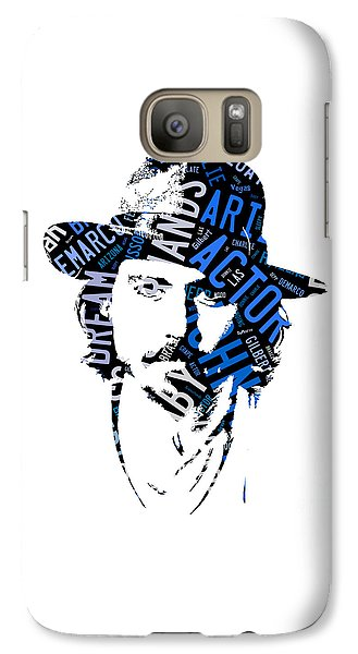 Johnny Depp Movie Titles Galaxy Case by Marvin Blaine