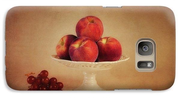 Just Peachy Galaxy Case by Tom Mc Nemar