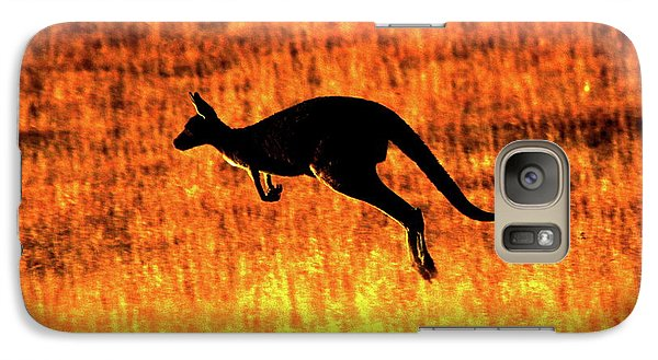 Kangaroo Sunset Galaxy Case by Bruce J Robinson