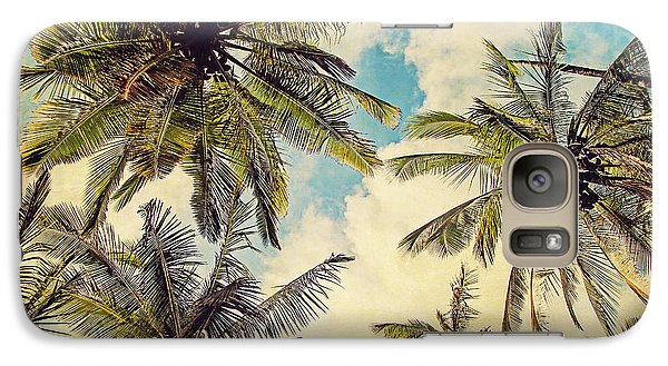 Kauai Island Palms - Blue Hawaii Photography Galaxy Case by Melanie Alexandra Price