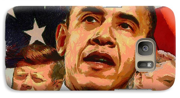 Kennedy-clinton-obama Galaxy S7 Case by Anthony Caruso