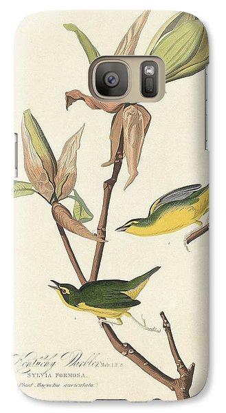 Kentucky Warbler Galaxy S7 Case by John James Audubon