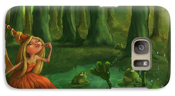 Kissing Frogs Galaxy Case by Andy Catling