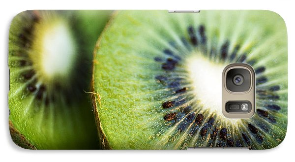 Kiwi Fruit Halves Galaxy S7 Case by Ray Laskowitz - Printscapes