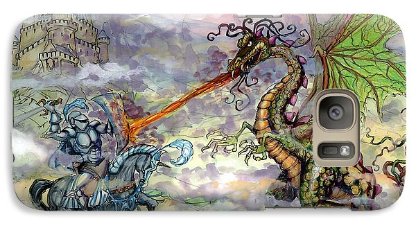 Knights N Dragons Galaxy Case by Kevin Middleton