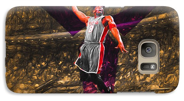 Kobe Bryant Black Mamba Digital Painting Galaxy Case by David Haskett