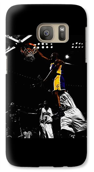 Kobe Bryant On Top Of Dwight Howard Galaxy Case by Brian Reaves