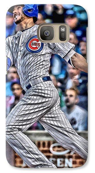 Kris Bryant Chicago Cubs Galaxy S7 Case by Joe Hamilton