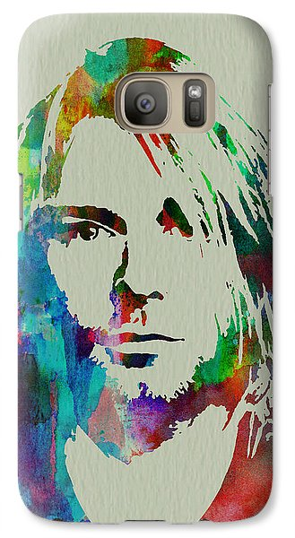 Kurt Cobain Nirvana Galaxy S7 Case by Naxart Studio