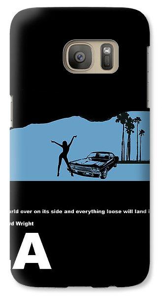La Night Poster Galaxy Case by Naxart Studio