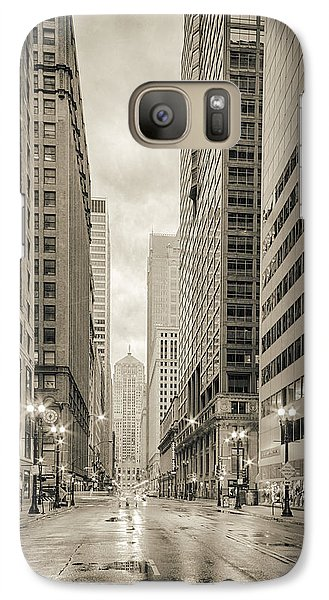Lasalle Street Canyon With Chicago Board Of Trade Building At The South Side - Chicago Illinois Galaxy S7 Case by Silvio Ligutti