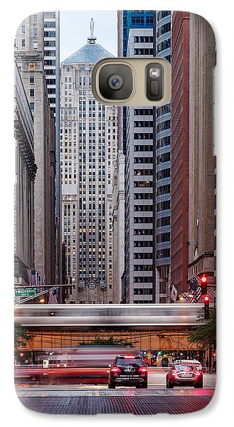 Lasalle Street Canyon With Chicago Board Of Trade Building At The South Side II - Chicago Illinois Galaxy S7 Case by Silvio Ligutti