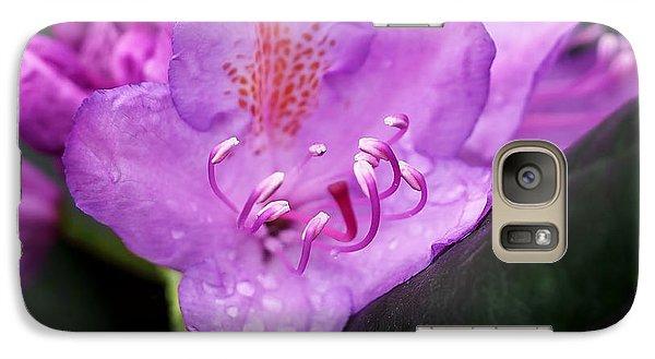 Lavender Rhododendron Galaxy Case by Rona Black
