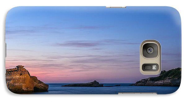 Galaxy Case featuring the photograph Le Phare De Biarritz by Thierry Bouriat