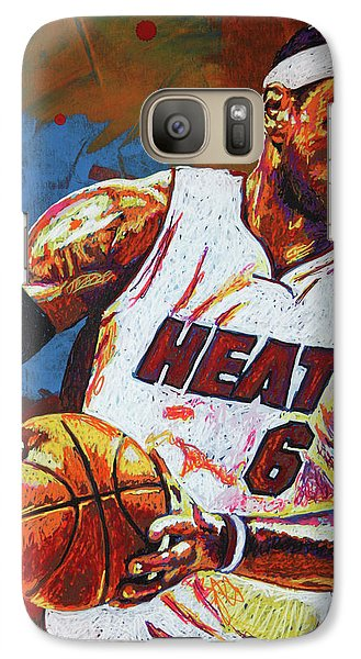 Lebron James 3 Galaxy Case by Maria Arango