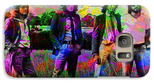 Led Zeppelin Band Portrait Paint Splatters Pop Art Galaxy S7 Case by Design Turnpike