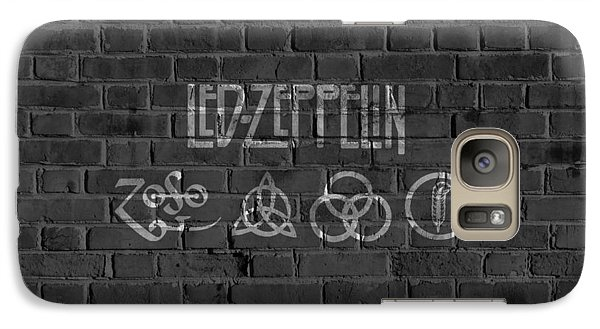 Led Zeppelin Brick Wall Galaxy Case by Dan Sproul