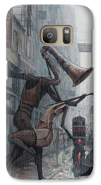 Life Is  Dance In The Rain Galaxy Case by Adrian Borda