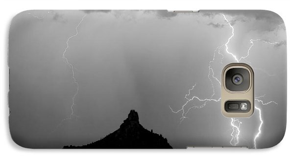 Lightning Thunderstorm At Pinnacle Peak Bw Galaxy Case by James BO  Insogna